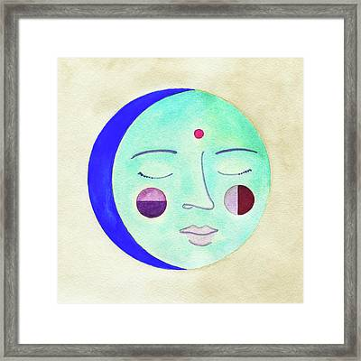 Blue Moon Framed Print by Clary Sage Moon
