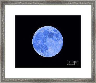 Blue Moon Close Up Framed Print by Al Powell Photography USA
