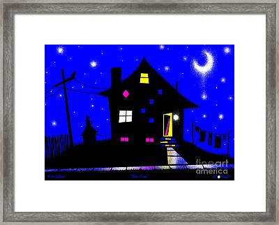 Blue Moon Framed Print by Cristophers Dream Artistry