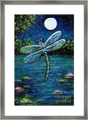 Blue Moon Dragonfly Framed Print