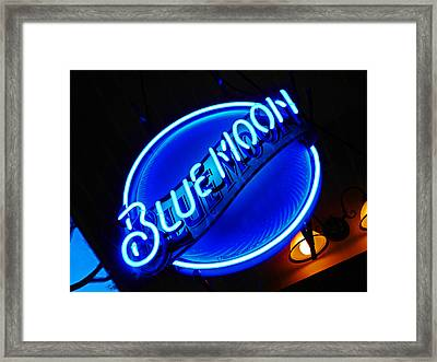 Blue Moon Framed Print by Elizabeth Hoskinson