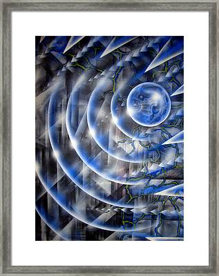 Blue Moon Falling Framed Print by Leigh Odom