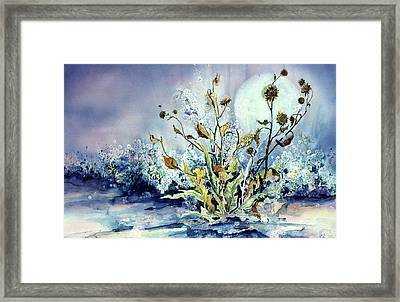 Blue Moon Floral Framed Print