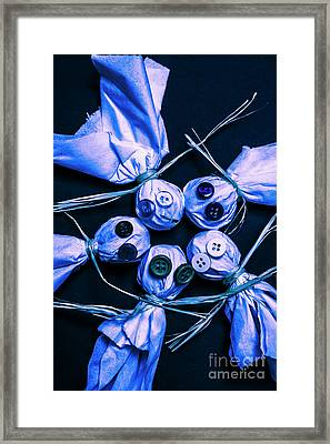 Blue Moon Halloween Scarecrows Framed Print by Jorgo Photography - Wall Art Gallery