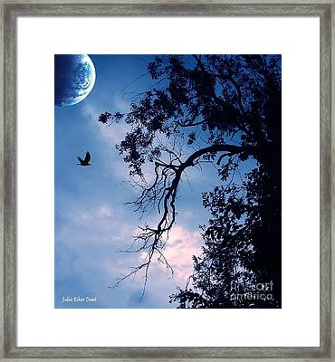 Blue Moon Framed Print by Julie Dant