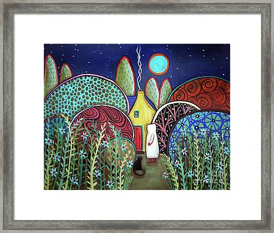 Blue Moon Framed Print by Karla Gerard