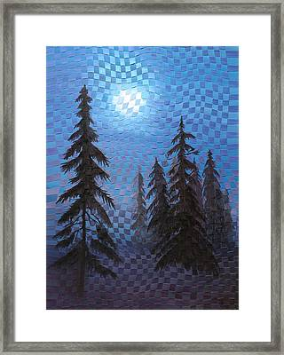 Blue Moon Framed Print by Linda L Doucette