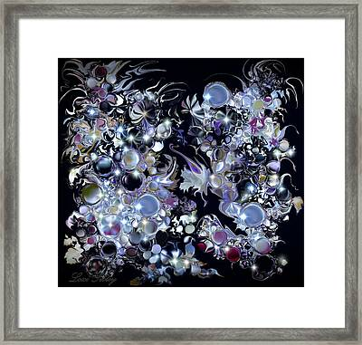 Framed Print featuring the digital art Blue Moon by Loxi Sibley