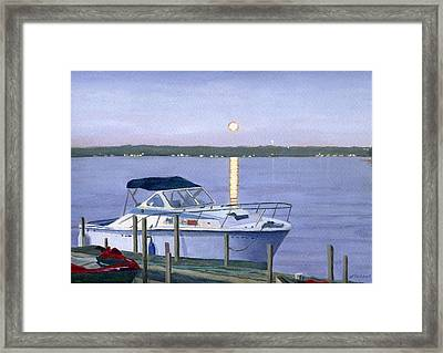 Framed Print featuring the painting Blue Moon by Lynne Reichhart