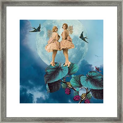 Blue Moon Framed Print by Olga Snell