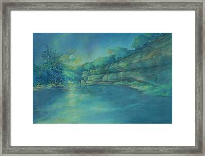 Blue Moon Over The Guadalupe Framed Print by Virgil Carter
