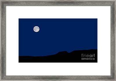 Blue Moon Rising Over The Giant Framed Print