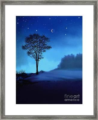Blue Moon Framed Print by Robert Foster