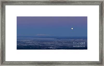 Blue Moon Setting Framed Print by Tim Grams