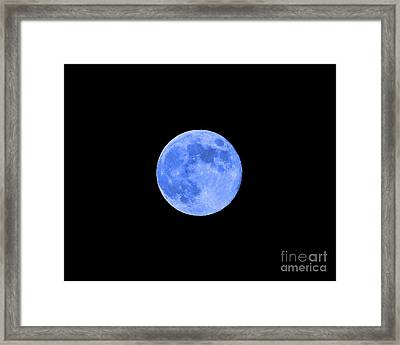 Blue Moon .png Framed Print by Al Powell Photography USA