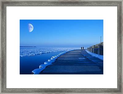 Blue Moon Walk Framed Print by Donald Schwartz
