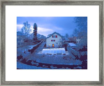 Blue Morn Framed Print by Chuck Shafer
