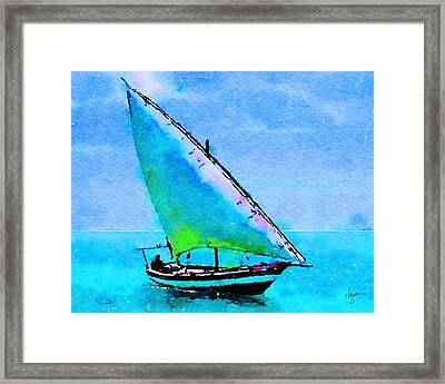 Framed Print featuring the painting Blue Morning by Angela Treat Lyon