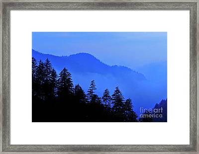 Framed Print featuring the photograph Blue Morning - Fs000064 by Daniel Dempster