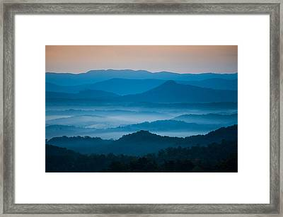 Framed Print featuring the photograph Blue Morning by Joye Ardyn Durham