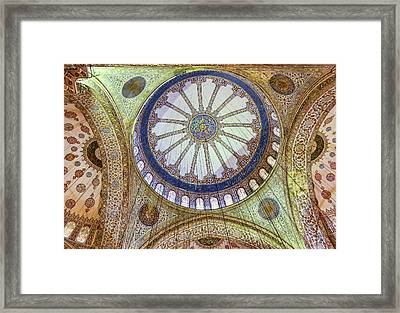 Blue Mosque Ceiling Framed Print