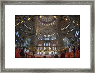 Blue Mosque Interior Framed Print by Joan Carroll