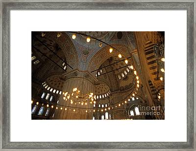 Blue Mosque Interior Framed Print by Sami Sarkis