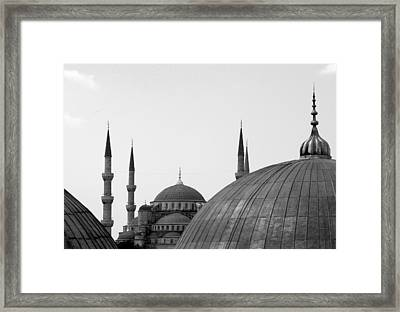 Blue Mosque, Istanbul Framed Print by Dave Lansley