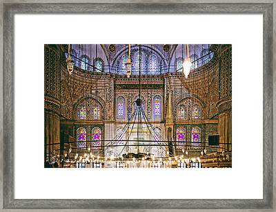 Blue Mosque Of Istanbul Framed Print