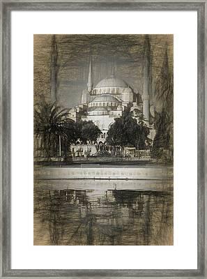 Blue Mosque - Sketch Framed Print
