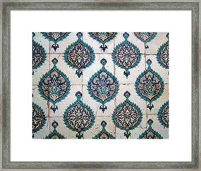 Blue Mosque Tiles Framed Print