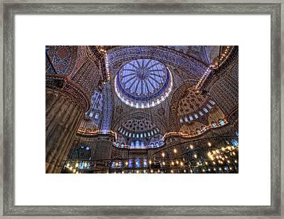 Blue Mosque Framed Print