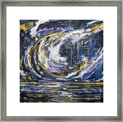 Framed Print featuring the painting Blue Motion by Debora Cardaci