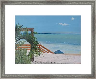 Blue Mountain Beach Dune Framed Print by John Terry