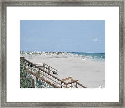 Blue Mountain Beach II Framed Print by John Terry