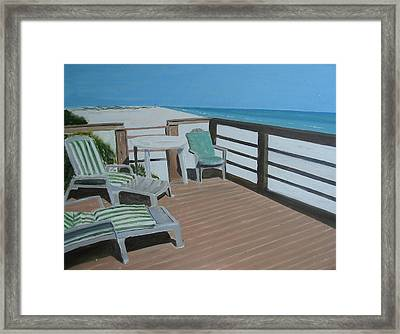 Blue Mountain Beach Framed Print by John Terry