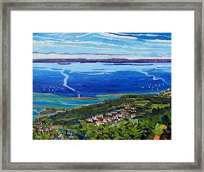 Blue Mountain Blues Framed Print by Phil Chadwick