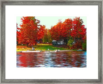 Blue Mountain Lake 10 Framed Print by Steve Ohlsen