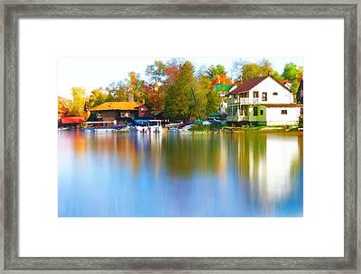 Blue Mountain Lake 7 Framed Print by Steve Ohlsen