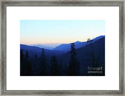 Blue Mountain Layers Framed Print