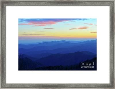 Blue Mountain Majesty Framed Print