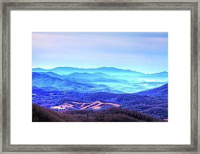 Blue Mountain Mist Framed Print