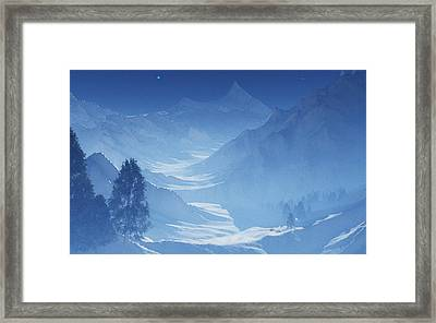 Blue Mountain Path Framed Print by Margaret Wingstedt
