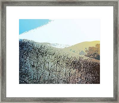 Blue Mountain Scrub Framed Print by Susan  Epps Oliver