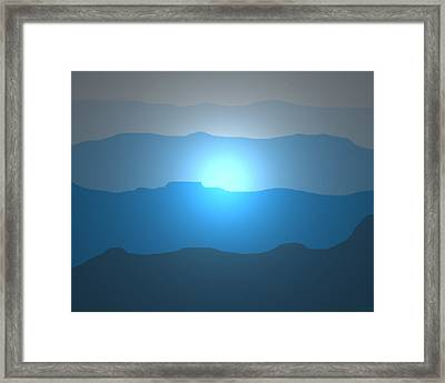 Blue Mountain Sun Framed Print