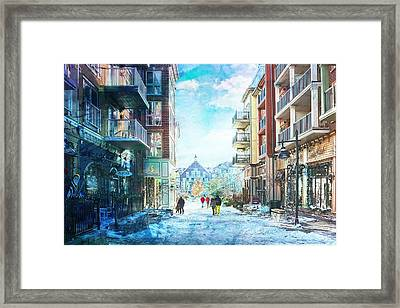 Blue Mountain Village, Ontario Framed Print