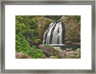 Blue Mountain Waterfall Framed Print