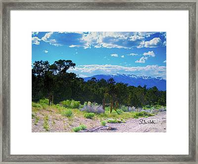 Blue Mountain West Framed Print