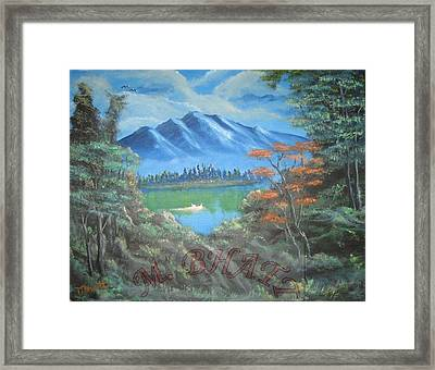 Blue Mountains Framed Print by M Bhatt