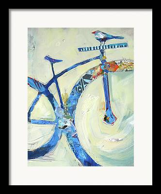 Bicycle Collage Framed Prints